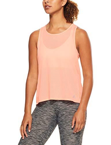 adidas Damen Response Tank, Clear Orange/Colored Heather, S Preisvergleich