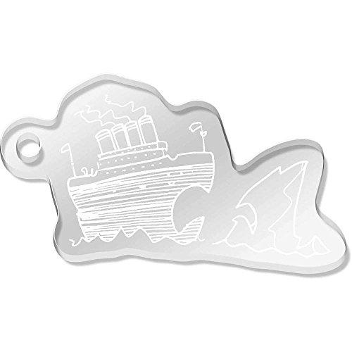 Azeeda Large 'Titanic & Iceberg' Shaped Engraved Keyring (AK00051782)