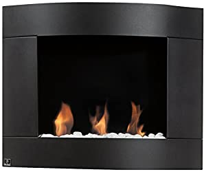Diamond 1 3 Round Burners Curved Shape Fireplace