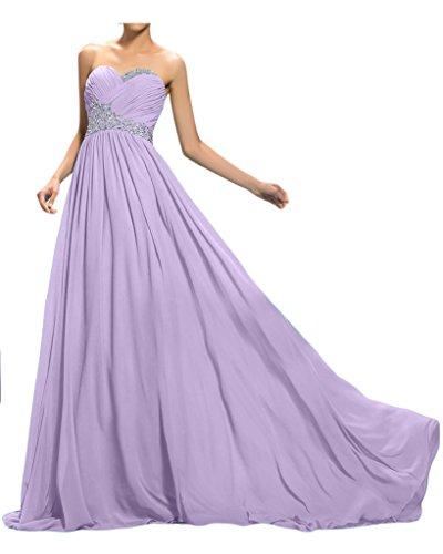 Sunvary cristalli una linea Sweetheart Chiffon criscross Evening Gowns Lilac