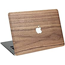 Carcasa de madera WOODWE para Apple Macbook Air Pro de 11 13 15 pulgadas – Cubierta para la parte superior de madera de nogal - Real Wood Macbook Case (Air 13 – TOP COVER, Walnut)