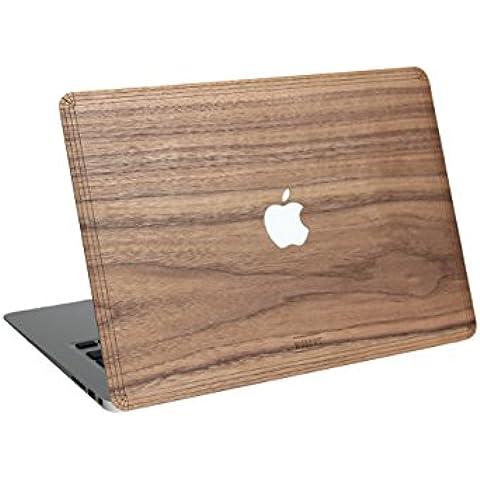Carcasa de madera WOODWE para Apple Macbook Air Pro de 11 13 15 pulgadas – Cubierta para la parte superior de madera de nogal - Real Wood Macbook Case (Macbook Pro 13 Retina, Walnut)