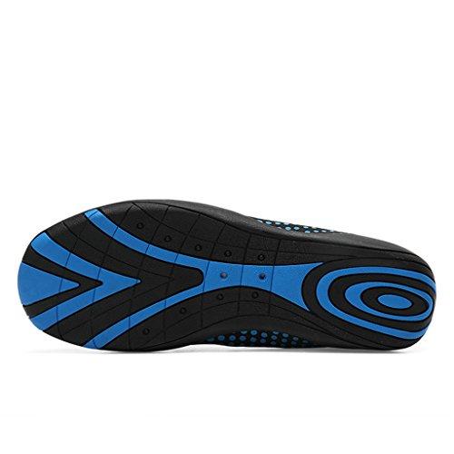Bevoker Badeschuhe Aquaschuhe Wasserschuhe Damen Herren Schnelltrocknend Schwimmschuhe mit Rutschfeste Sohlen für Unisex Erwachsene Blau 1