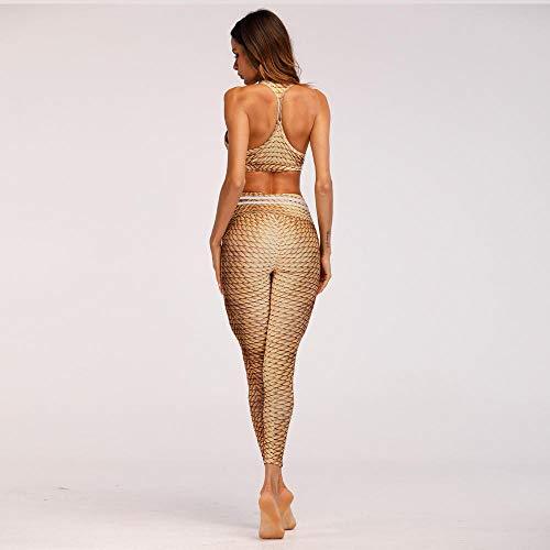 Stricken Damen Yoga-hose (ZCJB Yoga Hose Sommer Frauen Yoga Hose Sport Legging Stricken 3D Print Laufen Capris Gym Schnell Trocknend Hose Dünne Strumpfhose Elastische Jogging Jeggings yogahose Damen)