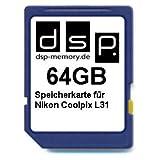 DSP Memory Z-4051557437111 64GB Speicherkarte für Nikon Coolpix L31