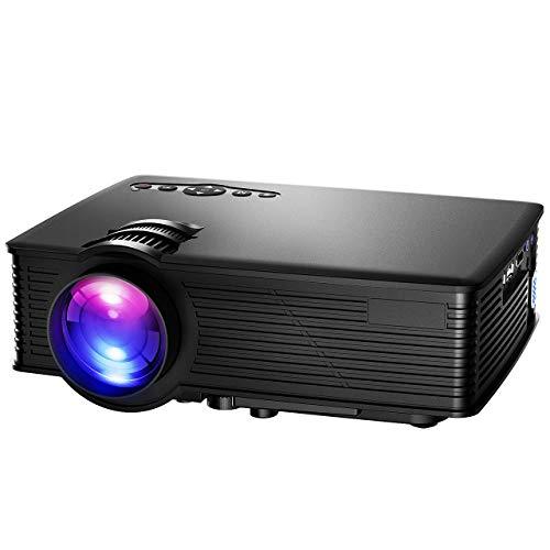 Mpow Proiettore Mini Portable LCD HD Proiettore, Multimedia Home Cinema Proiettori 800 * 480 Risoluzione con SD USB HDMI VGA per Supporto 1080P HD per TV Laptop Giochi SD Video iPhone Smartphone