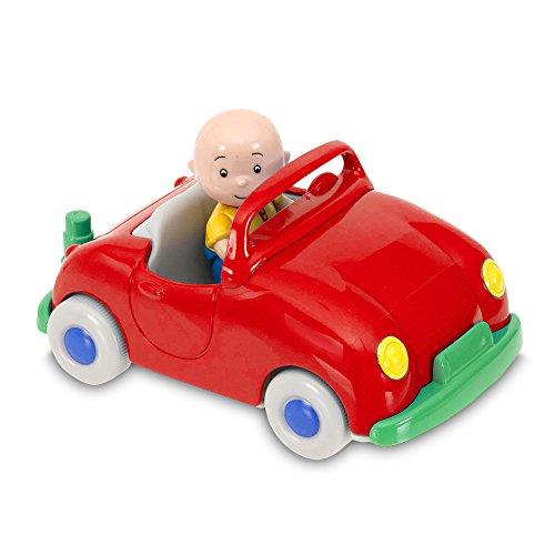 Caillou Vehicle pull back with figure, red color (Giochi Preziosi CAL01000)
