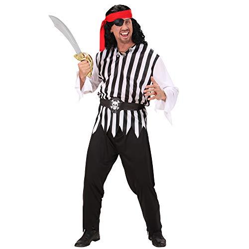 Widmann 02753 - Erwachsenenkostüm Pirat, Coat, Hose, Gürtel und Kopftuch, Größe L