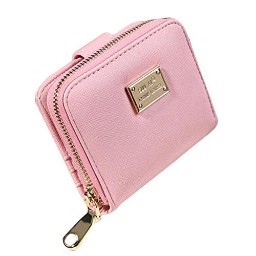 Portamonete da Donna, Kfnire raccoglitore della chiusura lampo della frizione del raccoglitore della borsa della borsa per il viaggio all'aperto (verde) rosa