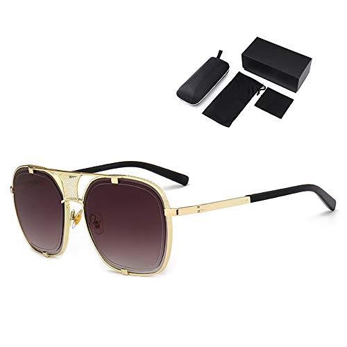 Augu Moderne high Fashion zubehör Sonnenbrille Herren metallrahmen Mode Spiegel objektiv Unisex Brillen geeignet perfekt für Strandurlaub, Festival, einkaufen, Mode straße Cosplay