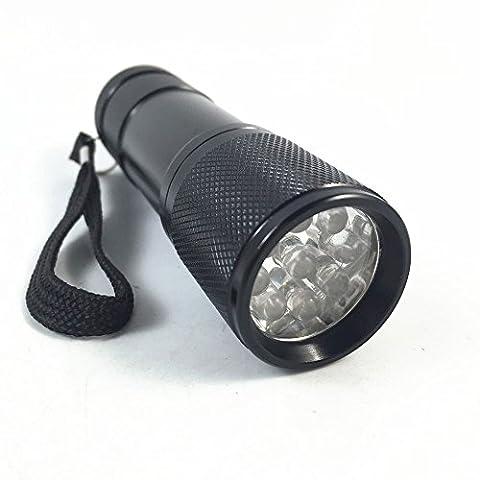 9 LED rotes Licht Wasserdichte Taschenlampe Astronomie Nachtsicht Camping Schwarz