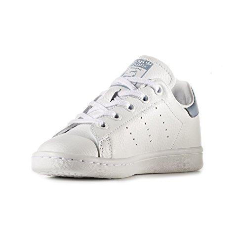 adidas Stan Smith C, Zapatillas de Deporte Unisex niños, Blanco Ftwbla/Azutac, 28 EU