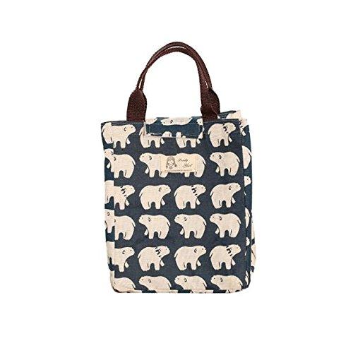 Lunchbox , borse da picnic , feixiang pacchetto di isolamento portatile impermeabile canvas pranzo sacchetti pranzo con riso-24 * 20 * 17cm (b)
