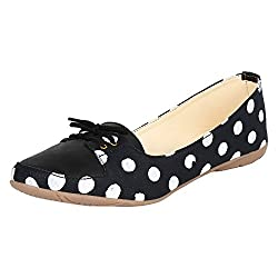 Authentic Vogue Womens Pulka Dot Black Color Loafer 41 EU