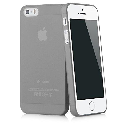 QUADOCTA iPhone SE / 5s / 5 Ultra Slim Case - Schutzhülle - Tenuis in Grau - Ultra dünne iPhone Hülle - Leicht transparentes Case