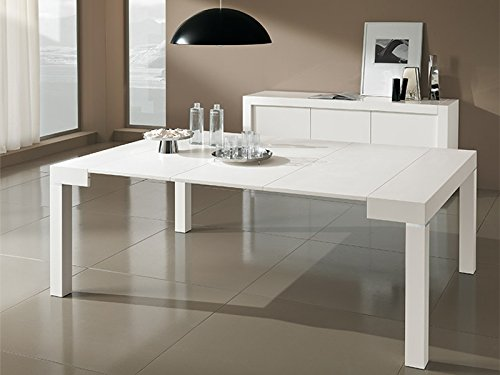 Legno Bianco Frassinato : Tavolo legno nobilitato consolle mod. paris allungabile fino a 3mt