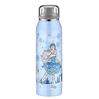 alfi 5677.105.050 Isolier-Trinkflasche isoBottle, Edelstahl Prinzessin blau 0,5 l – Hält 12 Stunden heiß oder 24 Stunden kalt - Spülmaschinenfest