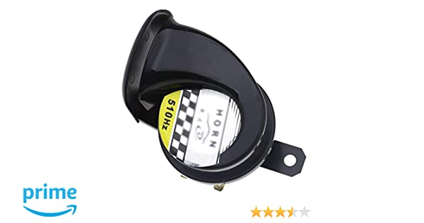 1 Pack MASO Snail Air Horn 115DB 510Hz Siren Horn Speaker Waterproof for 12V Motorcycle Auto Car Scooter Black