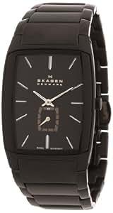 Skagen Herren-Armbanduhr Analog Quarz Edelstahl beschichtet 984XLBXB