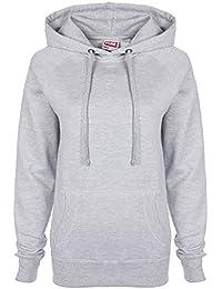 FDM Damen Slim Fit Kapuzen-Sweatshirt / Kapuzenpullover