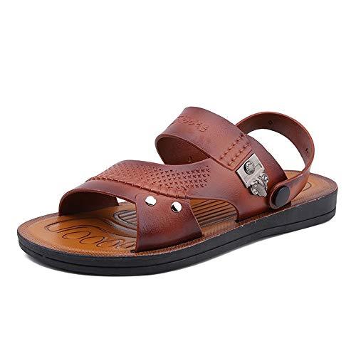Apragaz Herren Sandalen Sommer Outdoor Fischer Schuhe Atmungsaktiv Sport Strand Sandalen Dual-Zweck Hausschuhe (Color : Dunkelbraun, Größe : 40 EU) -