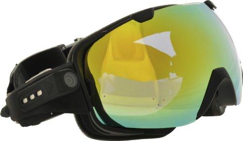 Rollei Ski Goggles - Skibrille mit integrierter Kamera, Full HD und Mikrofon - Schwarz