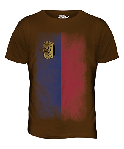 CandyMix Liechtenstein Verblichen Flagge Herren T Shirt Braun
