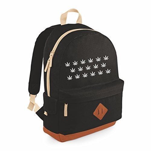 Hanf Messenger Tasche (Rucksack Freizeitrucksack Bag Bag Retrostyling (schwarz))