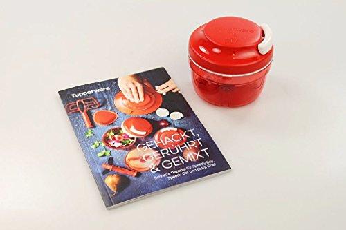 TUPPERWARE Chef Turbo-Chef rot D158 Zwiebelschneider Speedy Boy + Rezeptheft