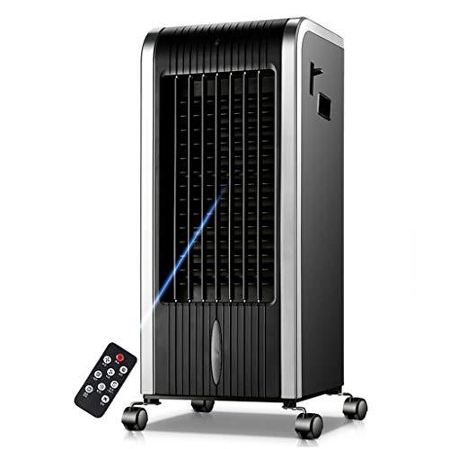 YWARX Heizung und Kühlung mobiles Klimagerät, mit Fernbedienung und LCD-Display (Luftbefeuchter/Luftreiniger/Repellent/Timer/Sauerstoff-Riegel) 400 m³ / h/schwarz