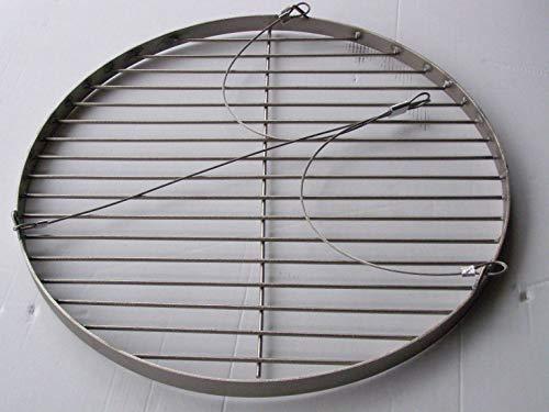Unbekannt 40 cm Grillrost Grill Rost Edelstahl V2A für Schwenkgrill Dreibein Rund Grillgitter