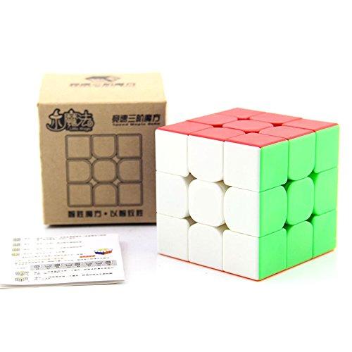 HJXDtech® LITTLE-MAGIC 3x3x3 Geschwindigkeit Zauberwürfel 55mm Magischer Würfel reibungslos schnell Twist Puzzle Cube für den Wettbewerb (Einfarbig)