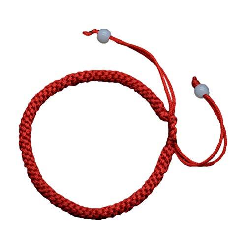 Pulsera de cuerda de ShankMing hecha a mano, color rojo, simboliza la riqueza y el amor