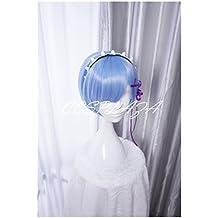 COSPLAZA de Cosplay pelucas RE: Zero Kara hajimeru Isekai SEIKATSU REM corto azul Anime pelo
