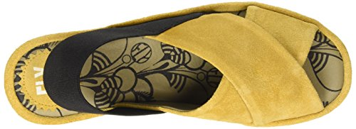 FLY London BREZ637FLY, Sandales Compensées femme Jaune - Yellow (Mustard)