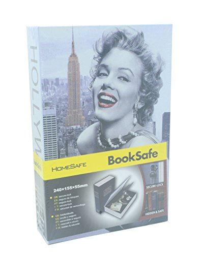 Cassaforte per contanti, a forma di libro su Marilyn Monroe, con lucchetto a combinazione e robusta custodia in metallo all'interno
