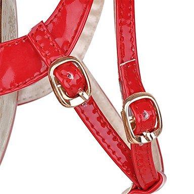 LvYuan Damen-Sandalen-Kleid Party & Festivität-Lackleder-Stöckelabsatz-Neuheit Club-Schuhe-Schwarz Rot Weiß Black