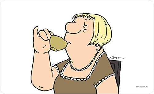 Loriot Frühstücksbrettchen 23 x 14 cm • 68060 \'\'Frau\'\' • Dies + Das • Küche & Frühstück • Frühstücksbrettchen