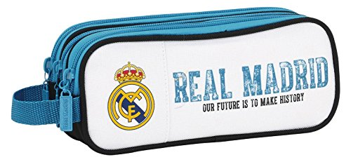 Real Madrid Estuche portatodo Triple, Color Multicolor (diseño, 21 x 7 x 8.5 cm (SAFTA 811754635)