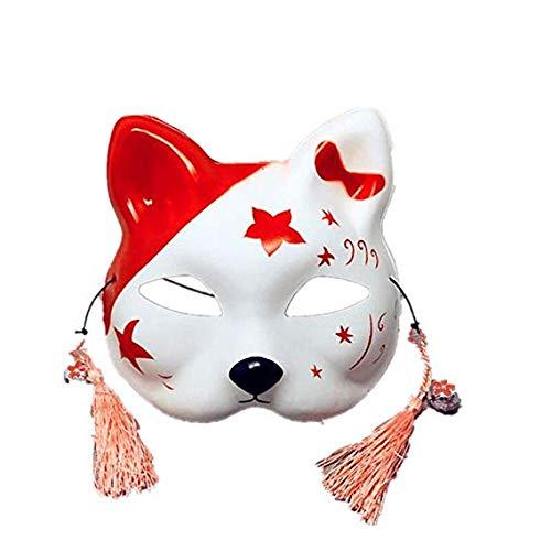 Gesichtsmaske Schild Schleier Wache Bildschirm Domino falsche Vorderseite Handgezeichnete halbe Gesichtsmaske Katze Ball Maske,1