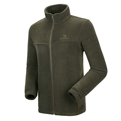 CAMEL CROWN Chaquetas Forro Polar para Hombre,Ropa Deporte de Esquí con Cremallera,Chaqueta Softshell Térmica,Fleece Jacket Primavera y Otoño