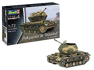 "Revell 03286 Flakpanzer III""Ostwind"" (3,7cm Flak 43), 1:72 originalgetreuer Modellbausatz für Fortgeschrittene, farbig"