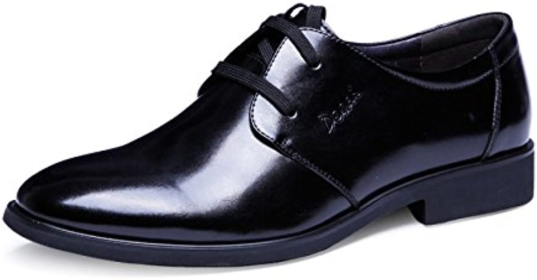 Zapatos De Cuero para Hombres Negocios Zapatos Casuales Simples Clásicos -