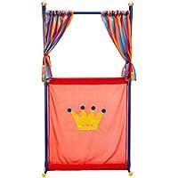 Games & More Set de teatro con 4 marionetas, color azul / rojo / amarillo (Simba 4586783)