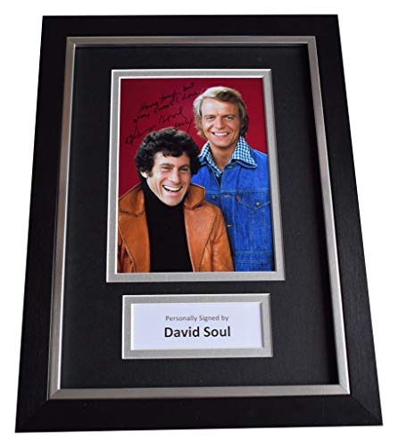 Sportagraphs David Soul Signed A4 Framed Autograph Photo Display Starsky & Hutch TV COA - Entertainment Hutch