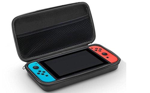 Funda-para-Nintendo-Switch-Bolsa-de-goma-EVA-Rgida-de-CaseBase-en-NEGRO-para-la-Nintendo-Switch-Para-meter-la-Consola-los-JoyCons-y-Otros-Pequeos-Accesorios