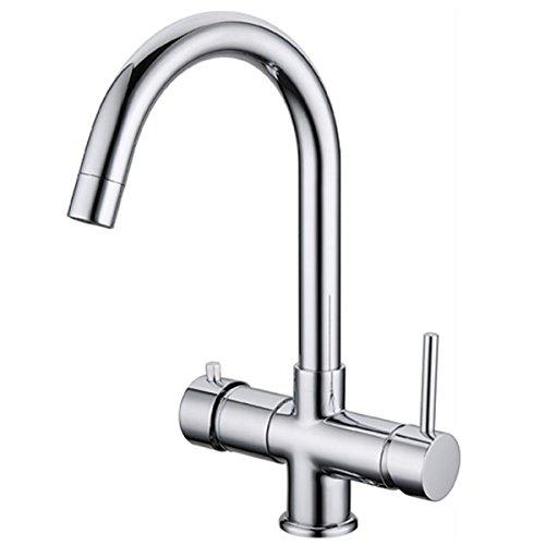 Rubinetto ForHome® 5 Vie Per Refrigeratori Gasatori Acqua Depurata Ambiente/Fredda/Gassata - Calda/Fredda, COLORE RUBINETTO CROMO