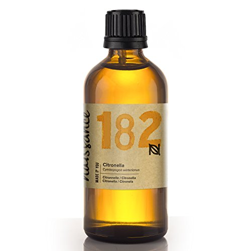 Naissance Olio essenziale di Citronella Puro al 100%, Vegano, senza OGM - 100ml (n°182)