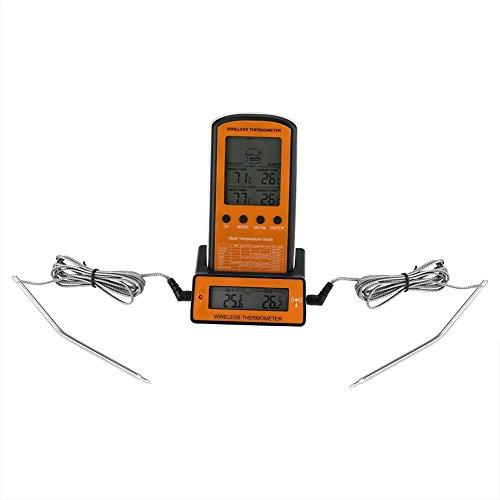 Wireless BBQ Thermometer Remote Digital Fleisch Kochen mit Instant Lesen für Barbecue Grill Smoker<br/> - Wireless Barbecue Thermometer