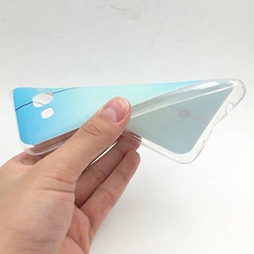 König Boutique Housse Coque Cover Case Étui de protection Motif slim Coque en silicone TPU Bumper Étui motifs différents BE HAPPY BLAU